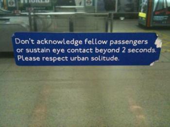 Underground guerilla signs